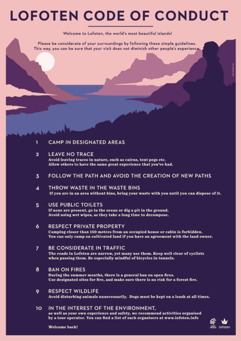 Poster: The Lofoten Code of Conduct